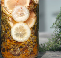Home-prepared lavender lemon skin tonic is an excellent traditional herbal infusion that can be used as a topical rinse for a variety of skin ailments.