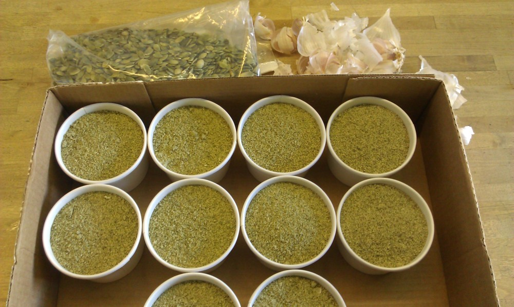 SFRAW's newest product offering: PUMPKIN PARASITE POWDER - $15.00 for 8 oz. cup. Please store in freezer.